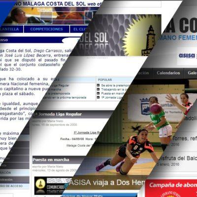 Web del Club Balonmano Femenino Málaga Costa del Sol
