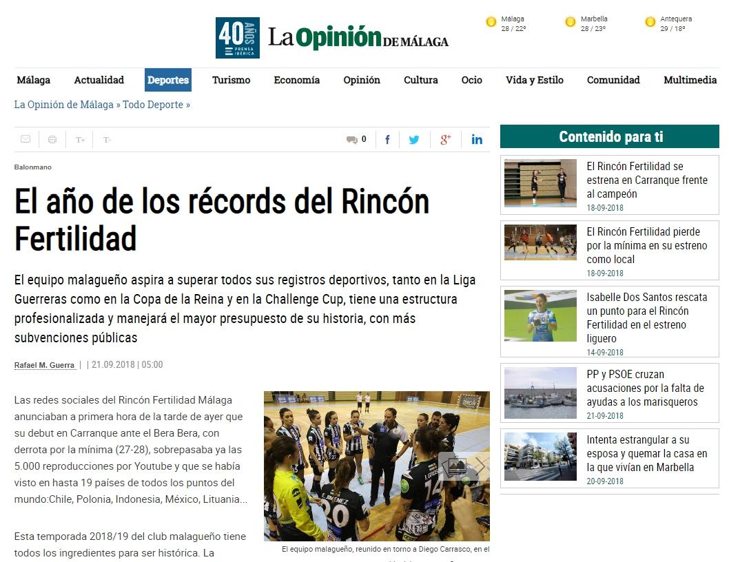 Año de Record: La Opinión de Málaga