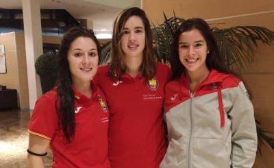 Sole Lopez, Emma Boada y Ana Gonzalez. Foto de Diario SUR.