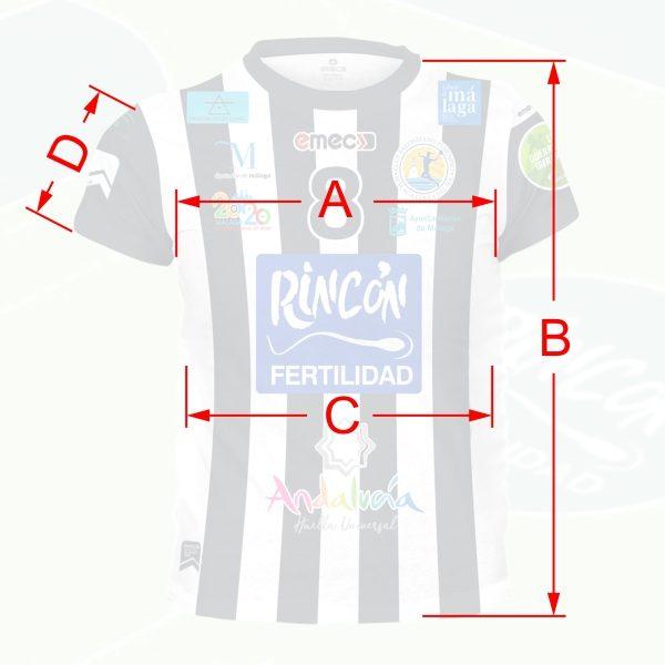 Tamaños de camisetas corte entallado