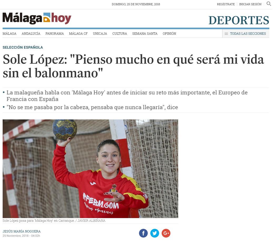 Sole López - Jesús María Noguera (Malaga Hoy)