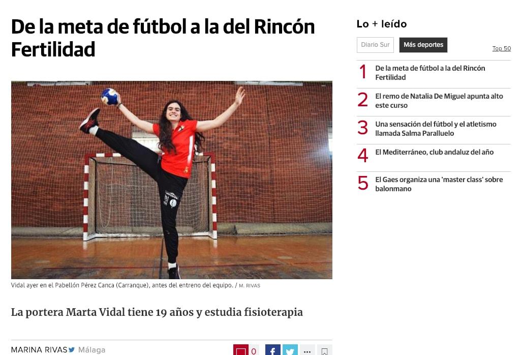 Marta Vidal en el Diario SUR. Foto y texto de Marina Rivas