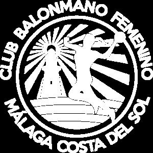 Escudo Club Balonmano Femenino Málaga Costa del Sol blanco transparente