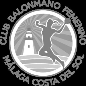 Escudo Club Balonmano Femenino Málaga Costa del Sol GRIS TRANSPARENTE