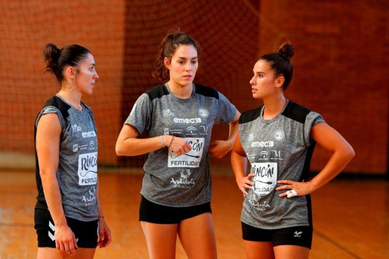 Estela Carrera, Rebeca Castell y Estela Doiro entrenamiento 1 agosto 2019-2020