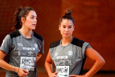 Estela Carrera y Rebeca Castell entrenamiento 1 agosto 2019-2020
