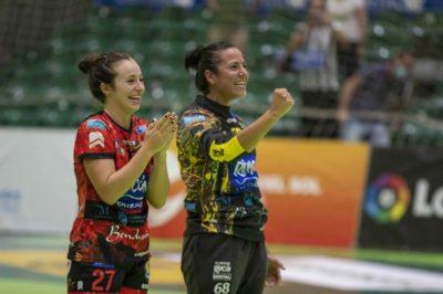 Virginia Fernández e Isabelle Dos Santos. Copa de la Reina 2020