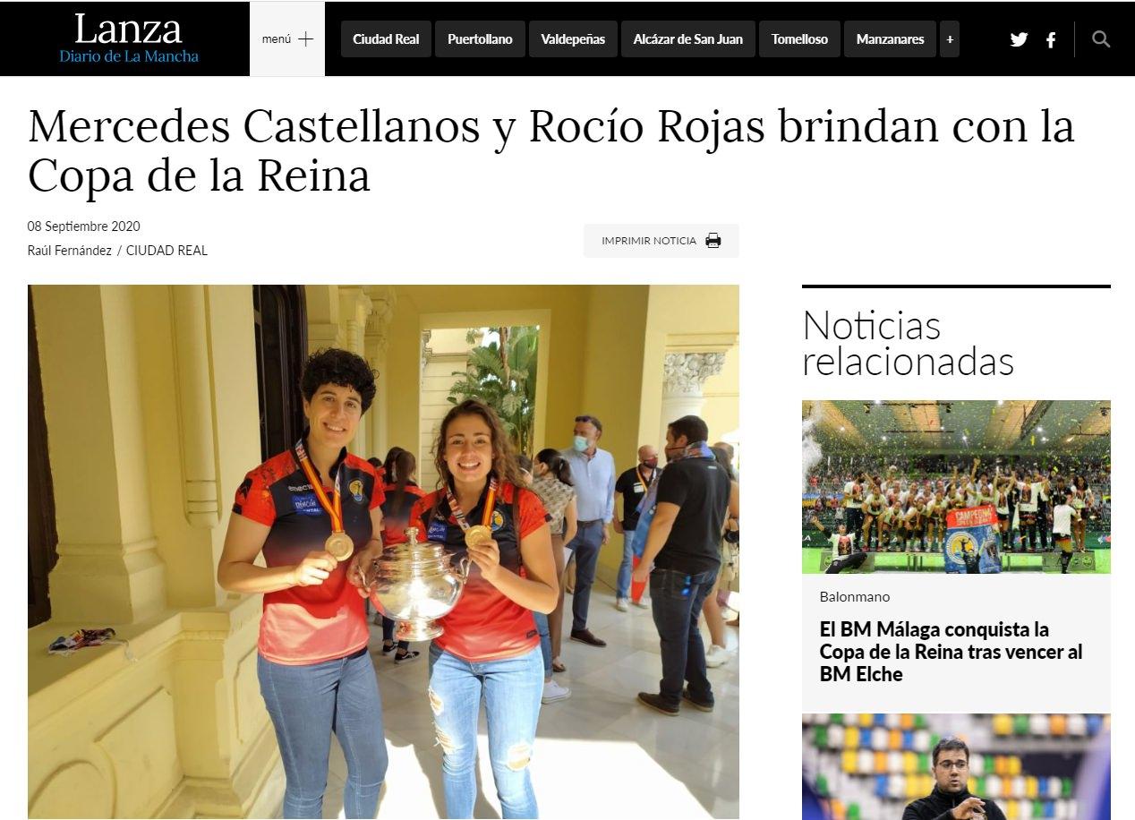 """Lanza """"Mercedes Castellanos y Rocío Rojas brindan con la Copa de la Reina"""""""