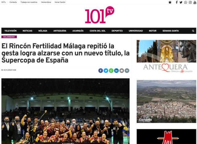 La Supercopa de España en 101tv.es