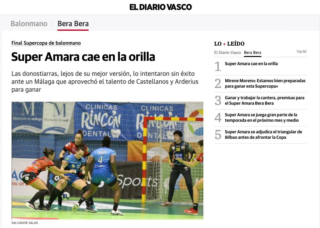 """El Diario Vasco: """"Super Amara ca en la orilla"""""""