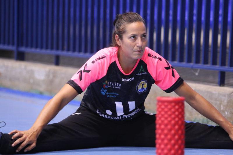 Virginia Fernández, en un entrenamiento en Ciudad Jardín.