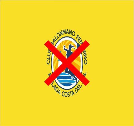 Uso incorrecto del escudo del Club Balonmano Femenino Málaga Costa del Sol
