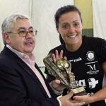 X Copa de Andalucía. Capitana con la Copa